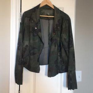 Camo moto jacket size large.